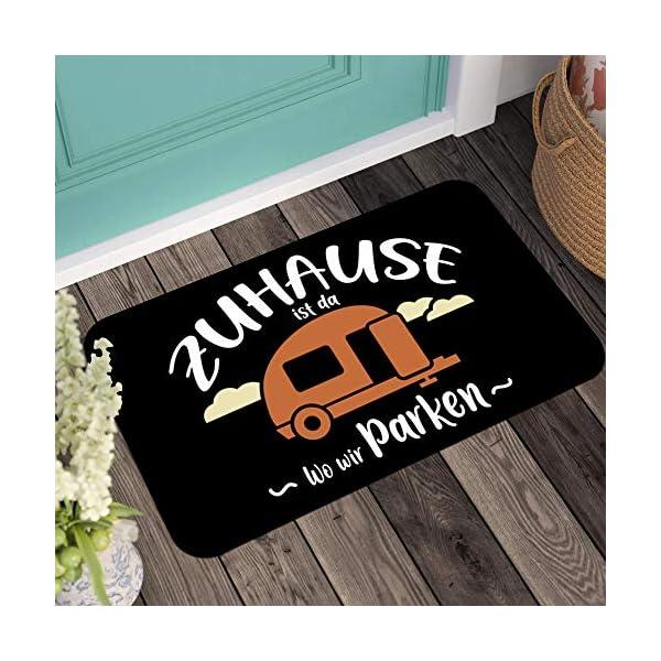 51nC%2BJqC%2BsL Kaffeebecher24 Fußmatte mit Spruch - Zuhause ist da wo wir parken - [Waschbar]