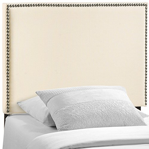 Fashion Bed Twin Size Headboard (Modway Region Upholstered Linen Headboard Twin Size With Nailhead Trim)