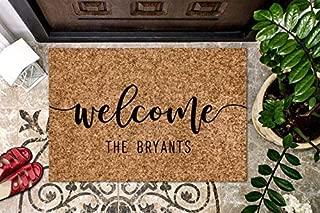 product image for Custom WELCOME Doormat Personalized Coir Doormat, Your Name Here, Welcome Doormat, Front Door Mat, House Warming Gift, Anniversary Wedding Gift, Outdoor/Indoor Mat