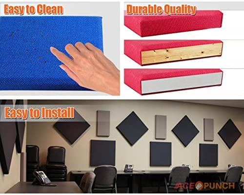 Acepunch 2 Paquete MARFIL Acústico Sonar Absorbente Estudio Panel 30 x 30 x 2.5 cm AP1152: Amazon.es: Instrumentos musicales