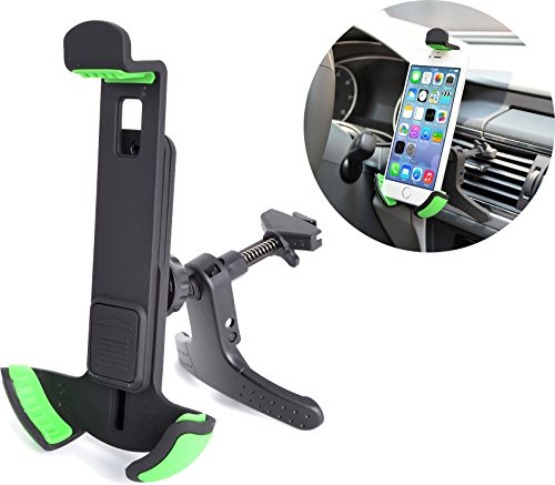 MaximalPower Universal Smartphone/GPS Car Air Vent Mount Phone Holder for Smartphones - Retail Packaging - Black