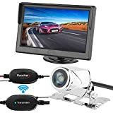 ZSMJ Wireless Backup Camera with 5 inch HD Monitor Kit Car Rear View Camera System Wide Angel Night Vision and Waterproof