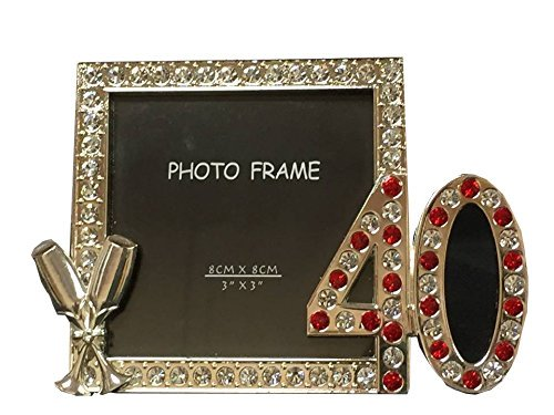 40th Anniversary Or Birthday Rhinestone Picture Frame