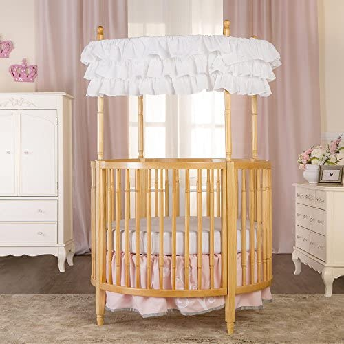Dream On Me Sophia Posh Circular Crib in Natural