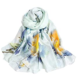 Zxx Shawl Scarf Spring and Autumn Long Paragraph Fashion Wild Digital Printing Silk Silk Silk Scarf Dual-use Silk Scarf
