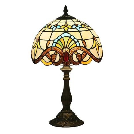 Tiffany Lámpara de Mesa Vendimia Diseño Sala Comedor Veranda ...