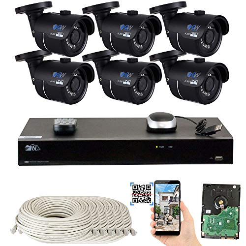 Amcrest 4K Security Camera System 8CH 8MP Video DVR with 8X 4K 8-Megapixel Indoor Outdoor Weatherproof IP67 Cameras, 2TB Hard Drive, 100ft Night Vision, for Home Business AMDV80M8-8B-W
