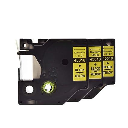 3 x compatible con SZEHAM DYMO D1 45018 Cintas para impresoras de ...
