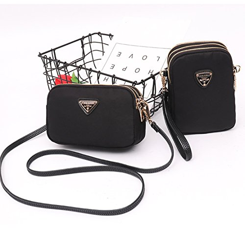 Crossbody Phone Phone Wallet Cell A Purse Holder Smartphone Small Bags Suchelle Black Womens wqE11HU