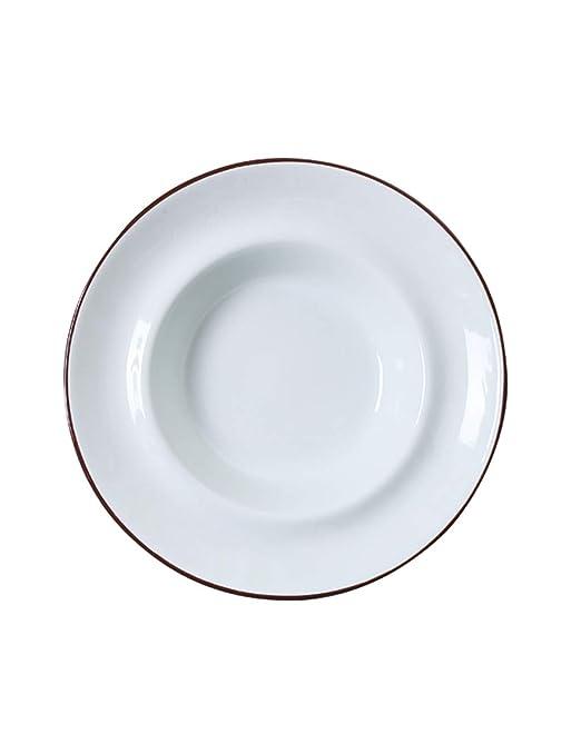 StudionFun Plato Europeo de Sopa de Porcelana, Pasta/Filete ...