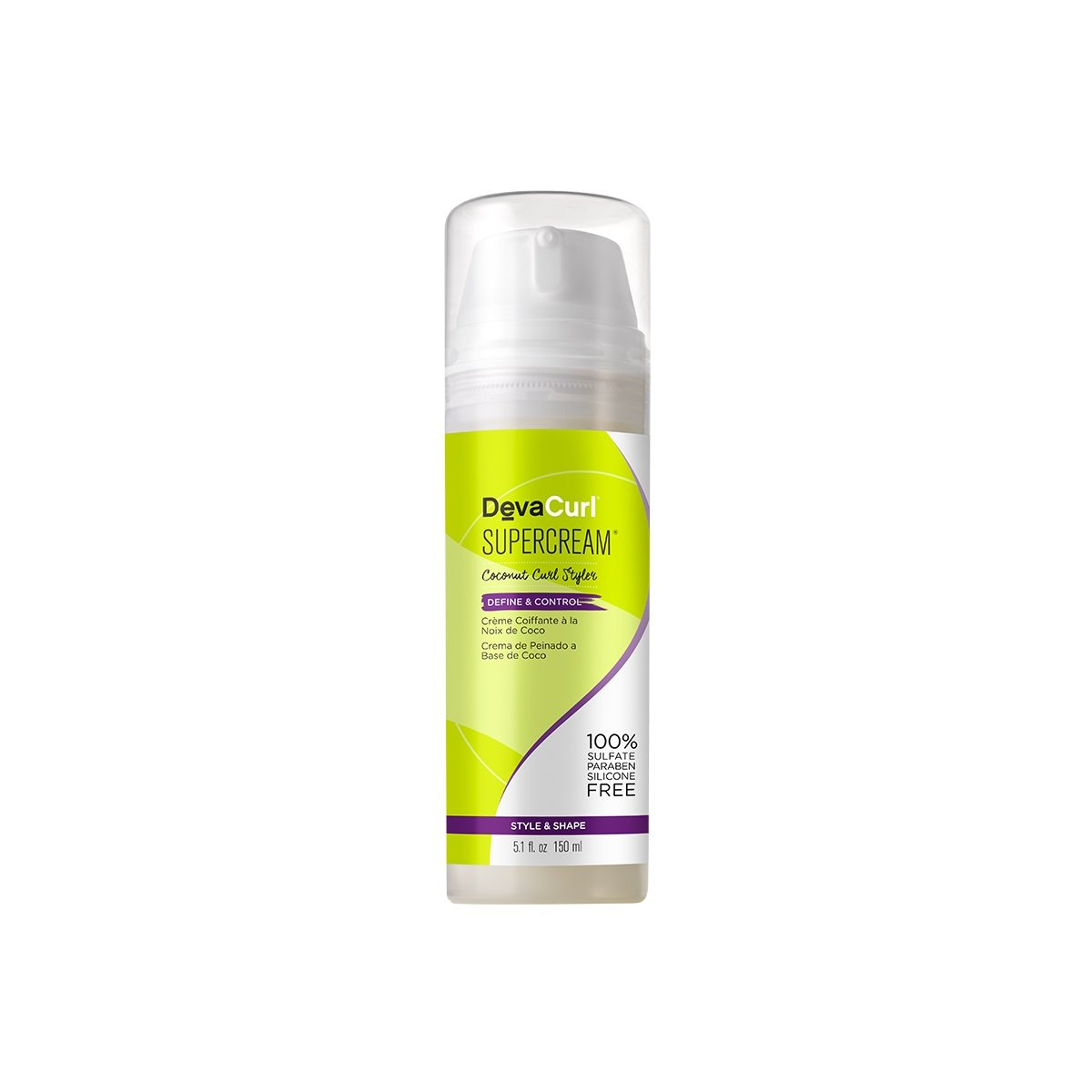 DevaCurl SuperCream;Curly Hair Styling Cream;5.1oz