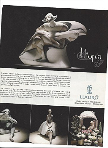 Collection Lladro Porcelain Figurine (MAGAZINE PAPER AD For 2006 Lladro Utopia Collection Porcelain Figurines)