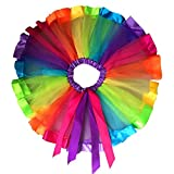 LUQUAN Girls Tutu Skirt Dress Multicolor Rainbow Pettiskirt Bowknot Dancewear 1-3 Years