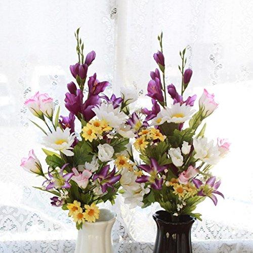 仏様のお供えに グラジオラスとトルコキキョウの花束一対