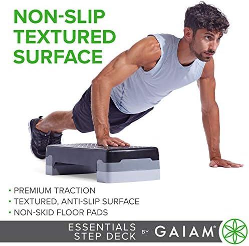 gaiam Essentials - Plataforma de Ejercicio aeróbico para escalones, Plataforma de Entrenamiento con Altura Ajustable y Superficie Texturizada Antideslizante 5