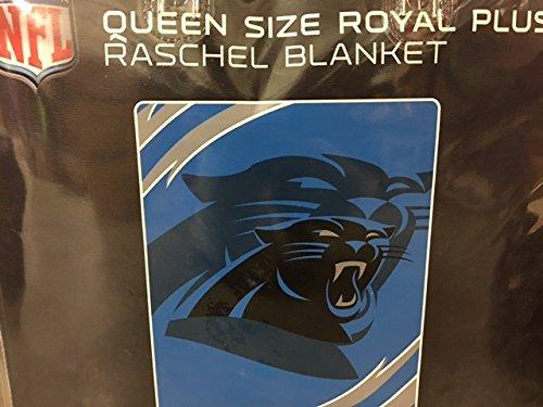 NFL Football Carolina Panthers Queen Mink Raschel Plush Blanket