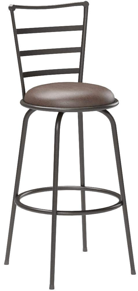 Mainstays Adjustable-Height Swivel Barstool, Hammered Bronze Finish, Set of 3 - Brown by by Mainstay