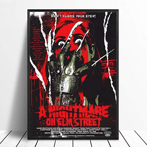 Pesadilla En Elm Street Obra De Arte Clásica De Horror ...
