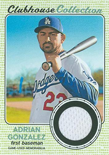 - Adrian Gonzalez player worn jersey patch baseball card (Los Angeles Dodgers) 2017 Topps Clubhouse Collection #CCRAG