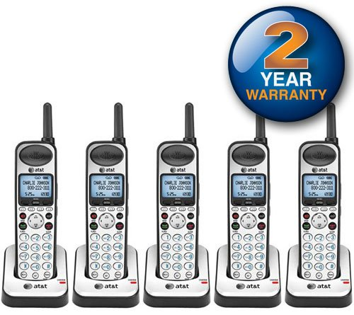AT&T SB67108 Wireless Handheld Telephone and Charger with New DECT 6.0 Technology (5 Pack) by AT&T