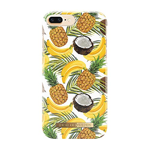 (iDeal Of Sweden Fashion Case for Apple iPhone 6S Plus / 7 Plus / 8 Plus (Microfiber Lining, Qi Wireless Charging Compatible) (Banana Coconut))