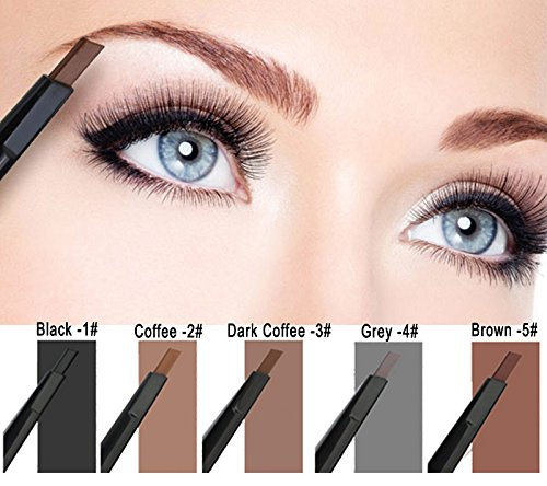 Ownsig Pro Waterproof Automatic Womens Eyebrow Pencil Grey -4#