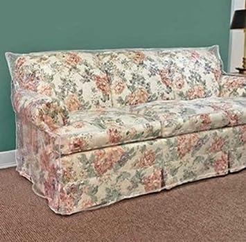 96u0026quot; Clear Vinyl Furniture Protector   Sofa Cover 96u0026quot; W X 40u0026quot  ...