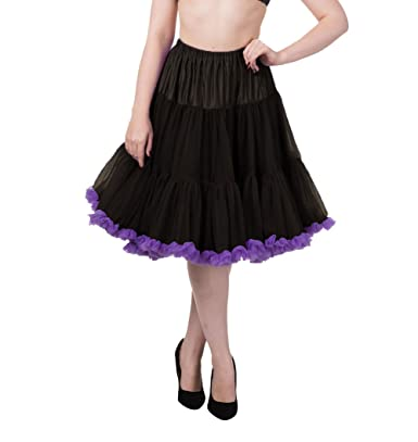 ab4d4bf4e84d52 Banned Verbotene helle Lichter Vintage Retro Rockabilly Lindy - Black /Purple/UK 8-