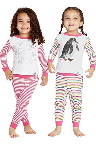 Price comparison product image Eric Carle Toddler Kids Snowflake Penguin Striped Pajama Set, Multi, 2T