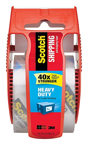 3M 142 Clear Package Mailing Tape, 1.88 x 800-In.