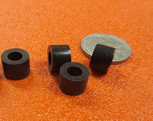 10 Screw Size x .375 OD x .192 ID x .250 Length Unthreaded 60 Pcs. Natural LDPE Spacer
