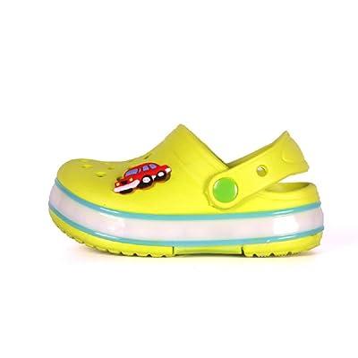 2016 New Summer Children's Cartoon Hole Shoes Button Battery Waterproof Beach Slippers
