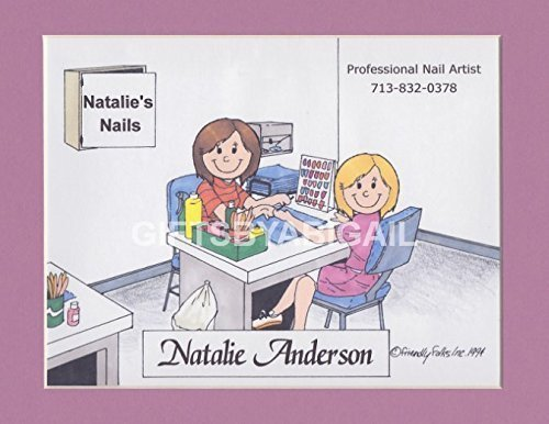 Manicurist Gift Personalized Custom Cartoon Print 8x10, 9x12 Magnet or Keychain