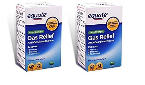 Equate - Gas Relief, Extra Strength, Simethicone 125 mg, 72 Softgels, Compare to Gas-X (2)