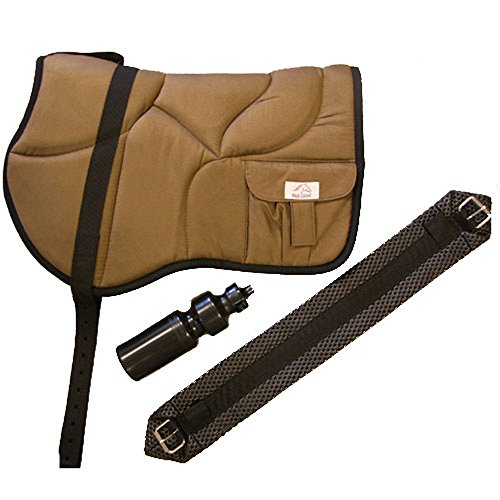 Best Friend Western Style Bareback Saddle Pad, Brown/Black (Pad Back Saddle)
