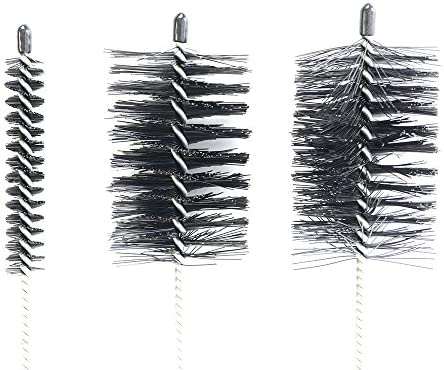 Flue Brush Set Nylon Bristles With Protective Tips /& Coiled Steel Handles 3Pc