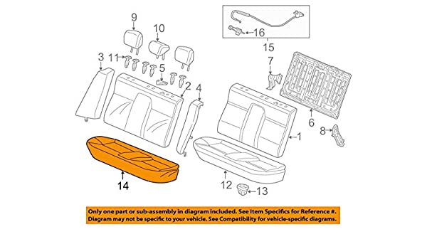 Rear Honda Genuine 82940-TR3-V21ZA Headrest Assembly