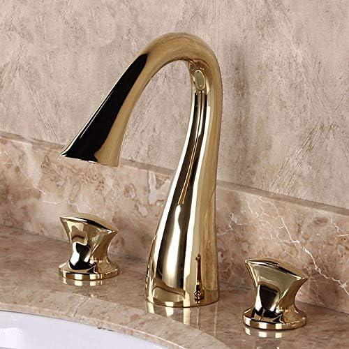 陶磁器の流しのミキサーはヨーロッパ式のレトロなスタイルの銅の浴室の熱く、冷たい表面を洗います