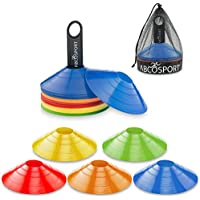 Disc Cone Set of 50 Flexible Multi Color (Red, Blue,...