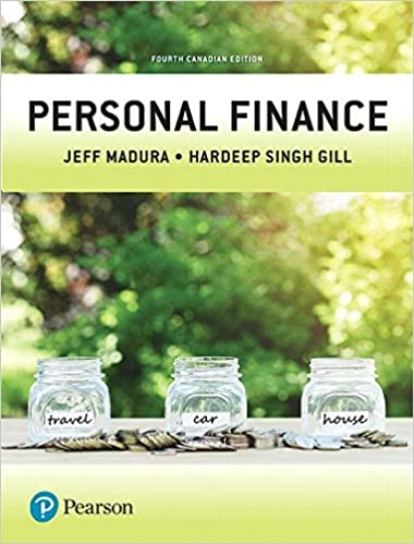 Personal Finance, Fourth Canadian Edition, 4th Edition
