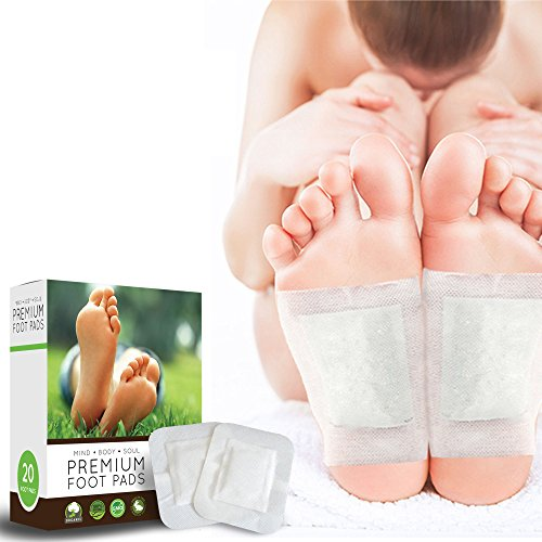 Metal Water Pad (Foot Pads - 20 Premium Body Cleansing Foot Pads - Rapid Pain & Stress Relief - New Advanced Formula - Remove Impurities - Improve Sleep - 100% Organic Ingredients - FDA Certified)