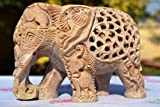 CraftVatika 8'' Large Elephant Figurines - Soapstone Elephant Hand Carving - Carved Elephant Sculpture with Another Elephant Inside - Lucky