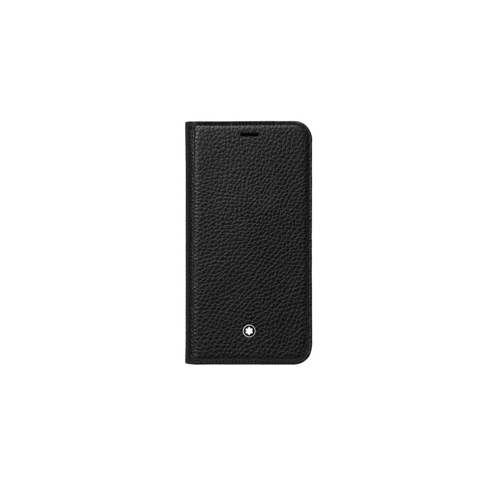 Montblanc Meisterstück Soft Grain Flipside Stand Up iPhone Apple XS Black Pocket Organiser 14 cm Black