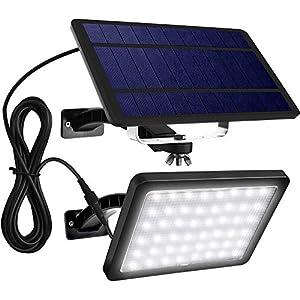 1000 Lumen 48 LED Solar Lights Outdoor JACKYLED Wall Mount Solar Powered Porch Lights with 5500mAh Battery Night…