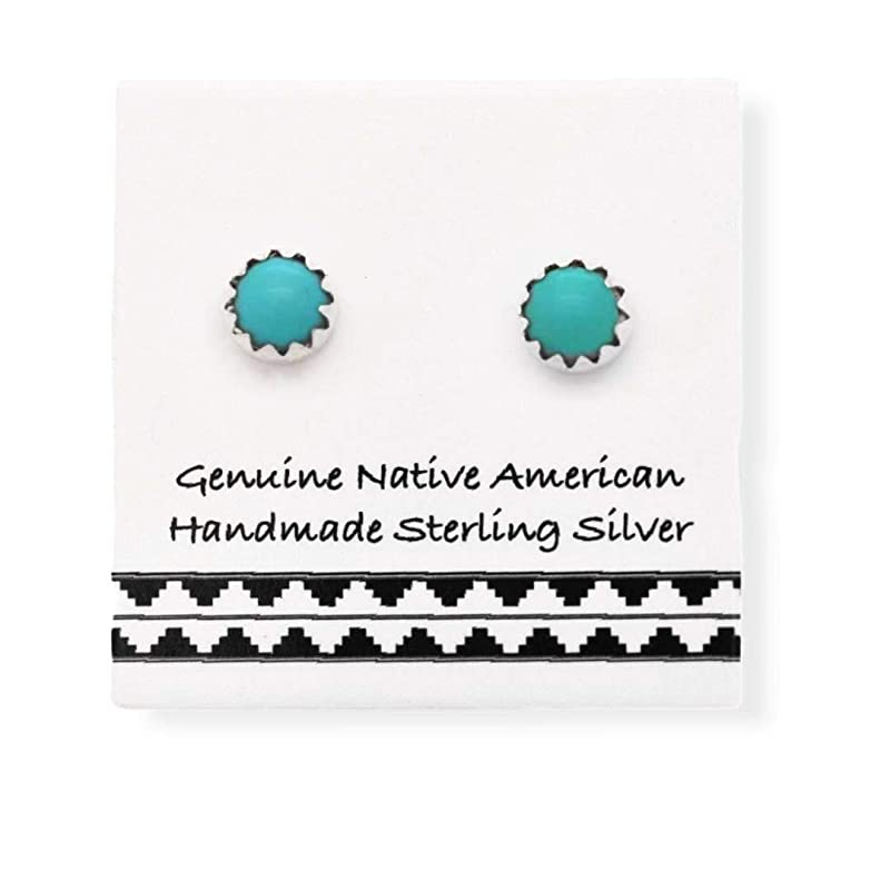 ON SALE Turquoise pendant handmade in sterling silver 925 with a Indian head Nickel