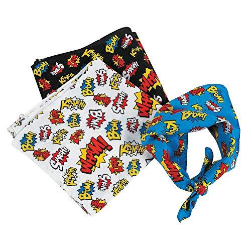 Fun Express - Super Hero Bandanas - Apparel Accessories - Hats - Bandannas - 12 -