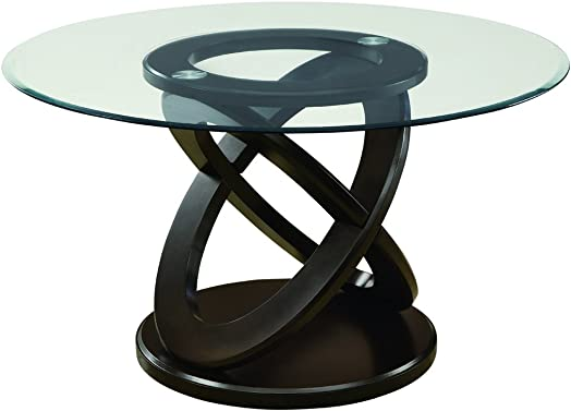 Monarch Specialties I Tempered Glass Dining Table