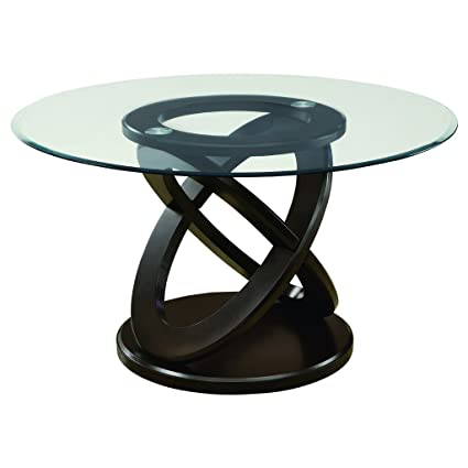 c48a16f8e20f Amazon.com - Monarch Specialties I 1749 Tempered Glass Dining Table 48