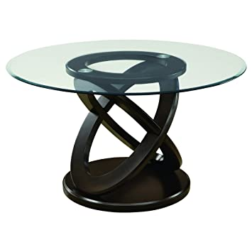 44b7244477dc Monarch Specialties Tempered Glass Dining Table