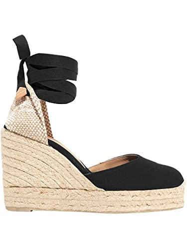 f95521398 Womens Wedge Espadrille Sandals Lace Up Platform Closed Toe Slingback Wrap  Strap Sandals